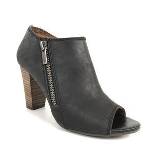 Lucky Brand Pabla Ankle Bootie Open Toe Block Heel